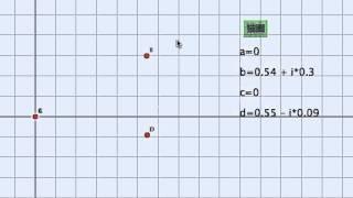 複素平面上でコッホ曲線に類する再帰図形を描きます。4つの点できまる複素数を用い、2つの関数を定義して再帰的に点をとっていきます。Cinde...