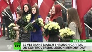Video Mad March: Nazi SS 'glorified' in Latvia download MP3, 3GP, MP4, WEBM, AVI, FLV November 2018