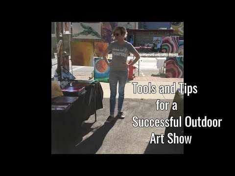 Tools and TIPS for an Outdoor Art and Craft show set up || Acrylic POURING