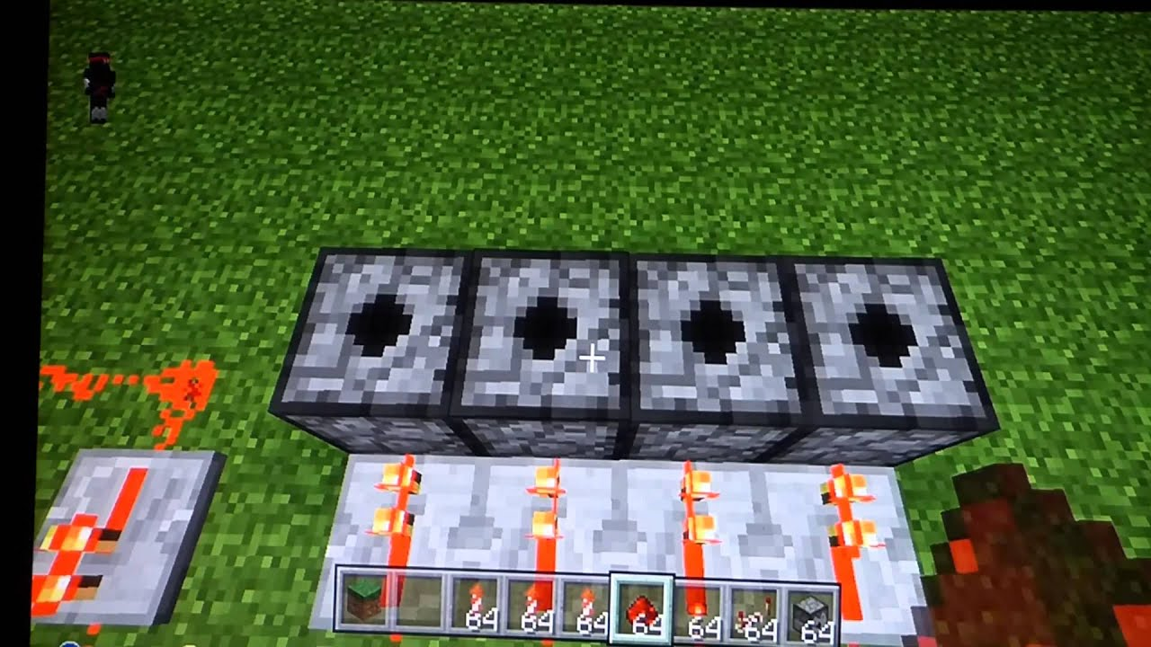 how to make a firework dispenser in minecraft pe