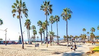 [Full HD] Walking from Venice Beach Boardwalk to Santa Monica Pier in Los Angeles, California