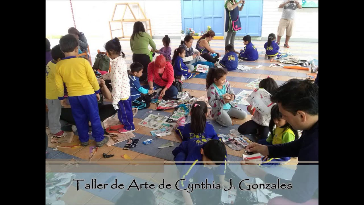 Taller de arte padres e hijos youtube for Taller de artesanias