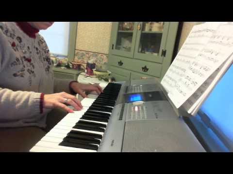 "Practicing, ""Hudson"" by Jeff Lorber (piano student, Marjorie Savoie)"