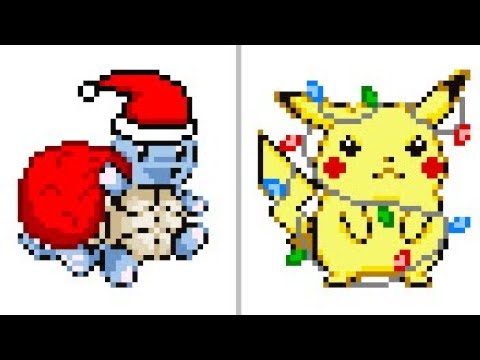 Pokemon Christmas Music  Pokemon Red Blue Yellow Holiday themed Route 1