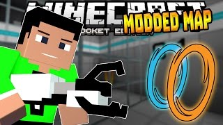 PORTAL & GRAVITY GUNS in MCPE!!! - 0.14.1 Project Portal Modded Map - Minecraft PE (Pocket Edition)