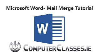 Microsoft Word Mail Merge Tutorial