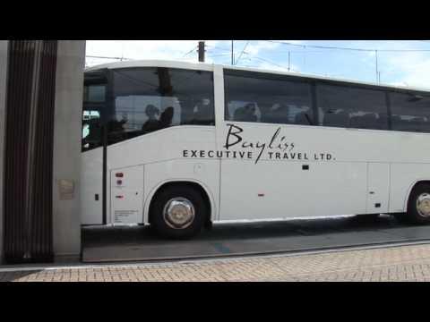 Coach journey on Eurotunnel Le Shuttle