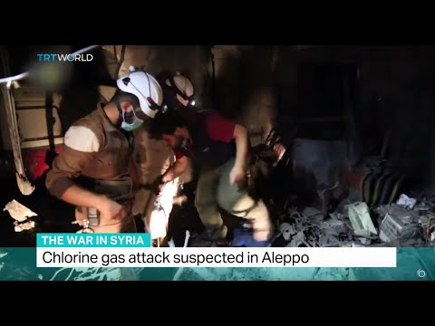 The War In Syria: Chlorine gas attack suspected in Aleppo, Andrew Hopkins reports