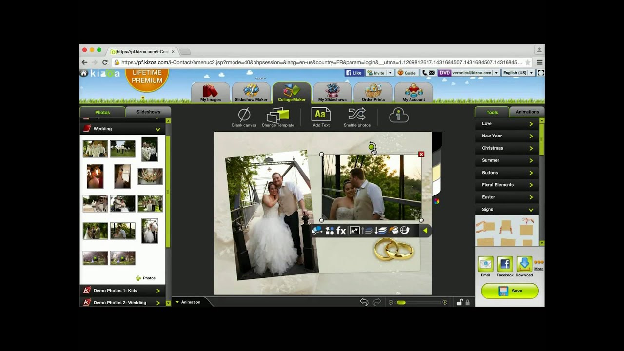 Download How to make a collage from scratch - Kizoa Tutorial