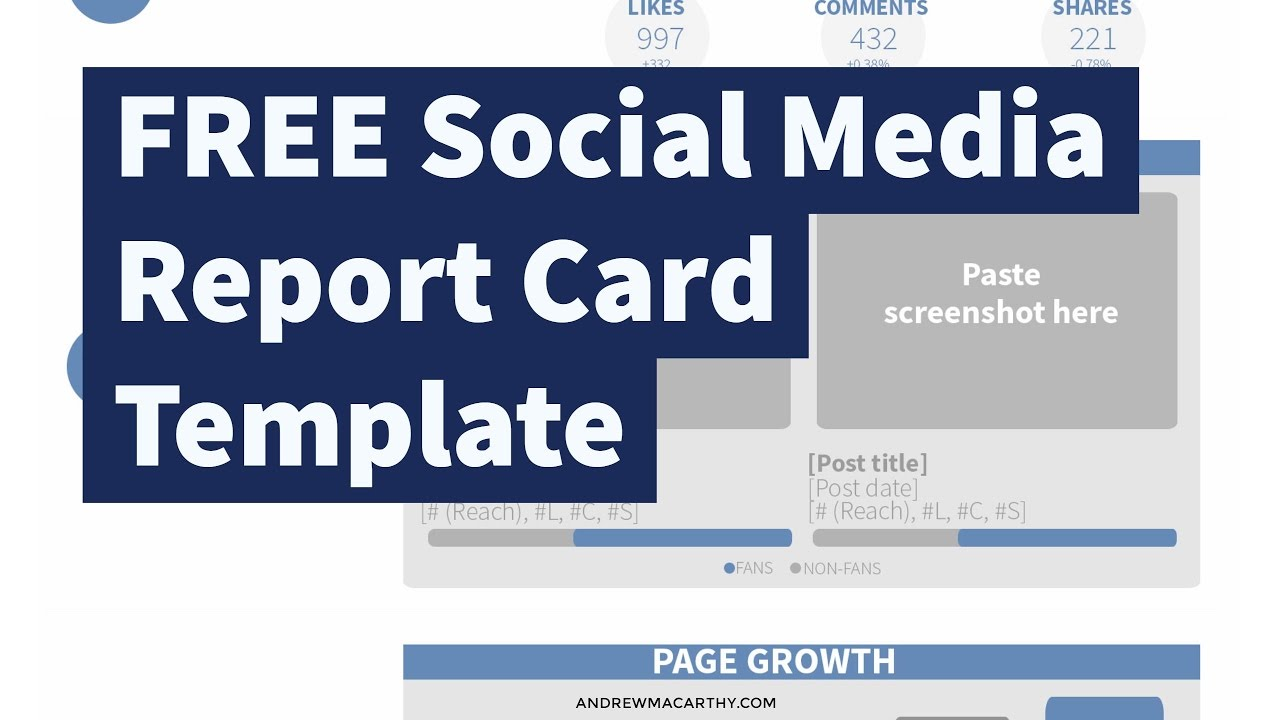 FREE Social Media Report Card Template Photoshop Psd YouTube - Social media report template
