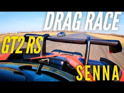 Drag Race : McLaren Senna VS Porsche 911 GT2 RS