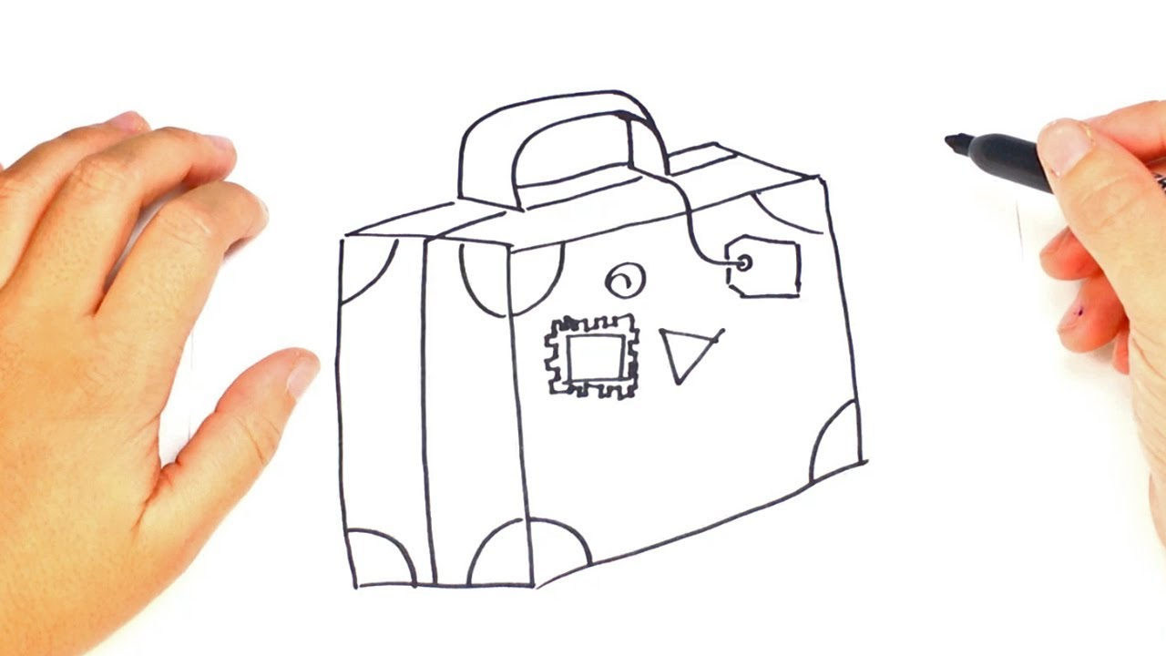 How to draw a Suitcase Step by Step