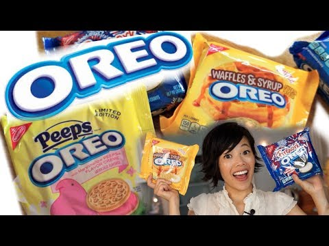 OREO 2017 Taste Test | Firework Popping Candy, Peeps, Waffles & Syrup