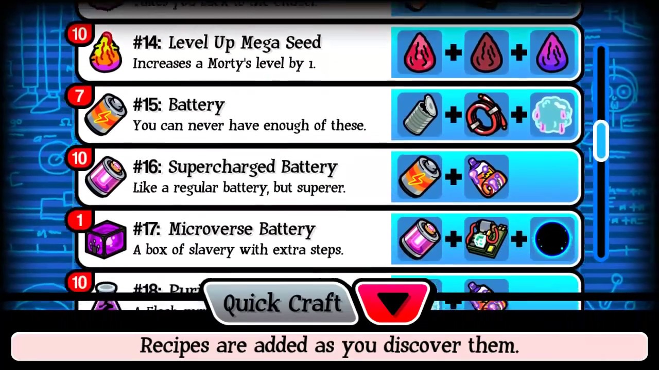 all 34 crafting recipes