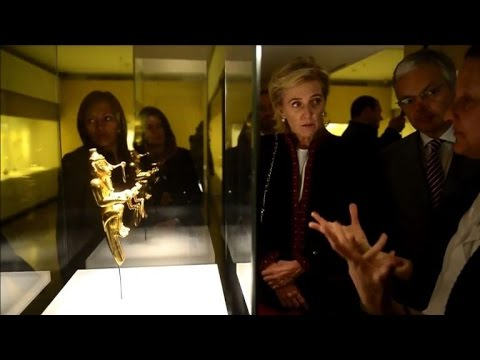 Princess of Belgium visits museums in Colombia