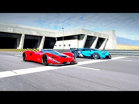 Bugatti Vision GT vs SRT Tomahawk X VGT Drag Race! Gran Turismo Sport thumbnail