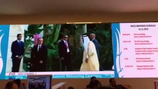 وصول خادم الحرمين الشريفين لمقر فعاليات قمة العشرين بتركيا