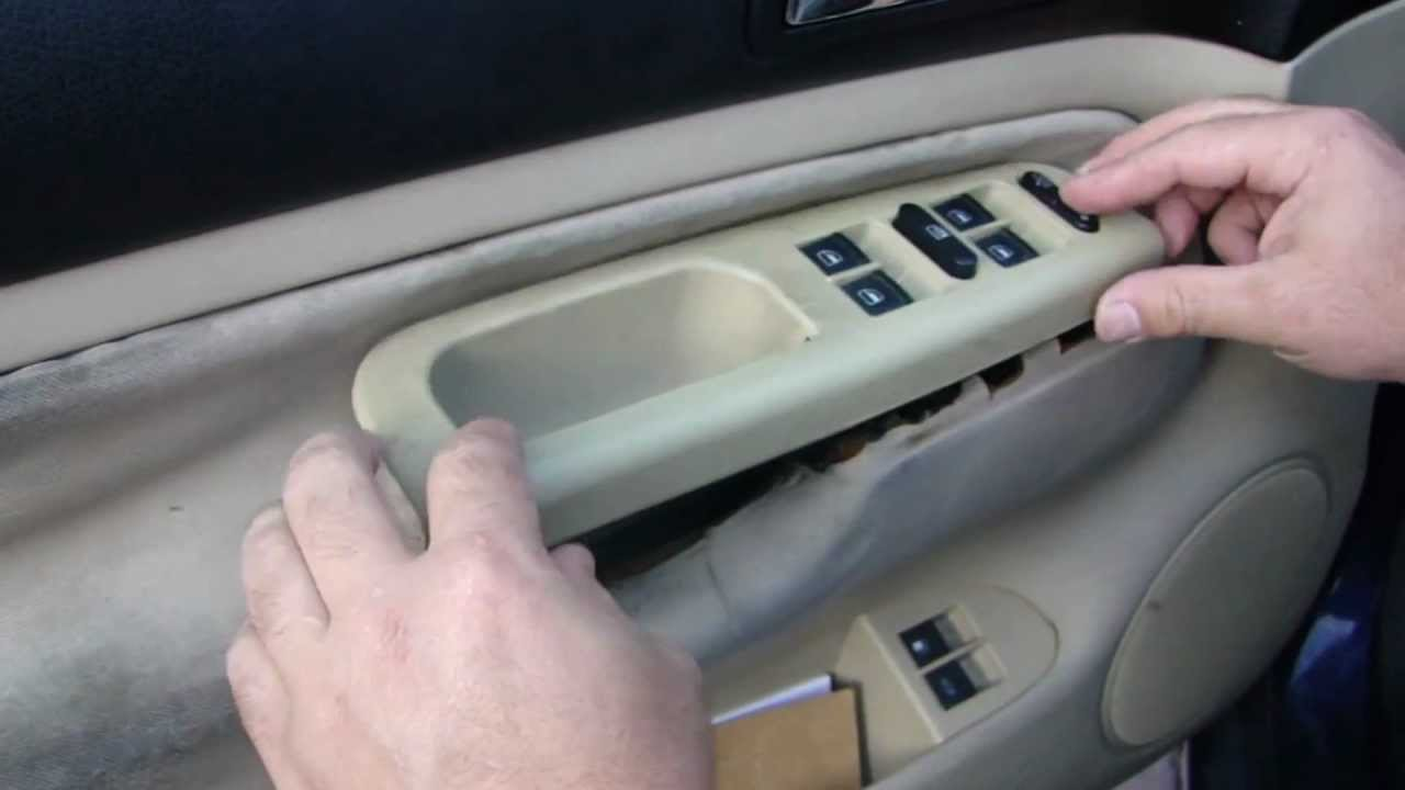 Volkswagen Cabrio Fuse Box Diagram Golf And Jetta Mk4 Window Switch Removal And Install Youtube