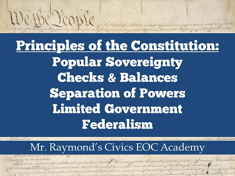 Principles of the Constitution - Civics State Exam