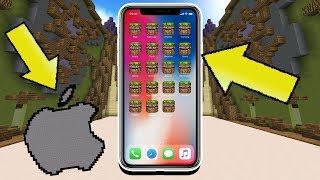 THE IPHONE X IN MINECRAFT!! (Minecraft Build Battle)