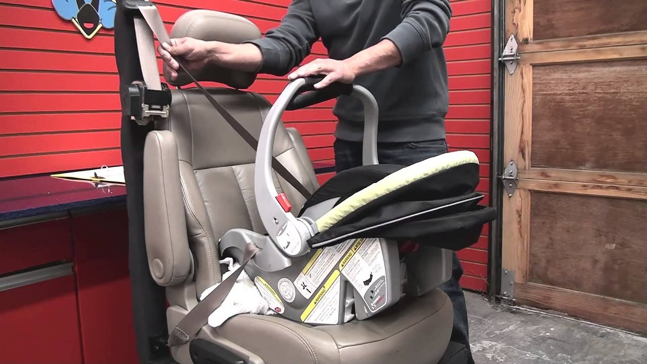 013444b2533 Baby Trend Ez Flex Loc   Using Car seat without Base - YouTube