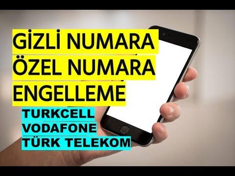 Gizli Numara Engelleme (Özel Numara Kapatma) Turkcell Vodafone Türk Telekom