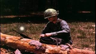 Realistic example: US Army 1st Battalion 87th Infantry prepares for a night opera...HD Stock Footage