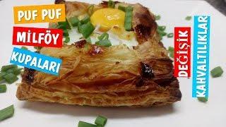 Puf Puf Milföy Kupaları-Değişik Kahvaltı Tarifleri-Breakfast