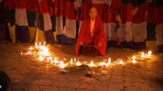 Левитация тибетского  монаха. Супермаг