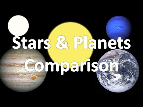 difference between stars and planets with comparison - 480×360