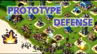 PROTOTYPE DEFENSE ROCKS | Boom Beach | SHOCK BLASTER