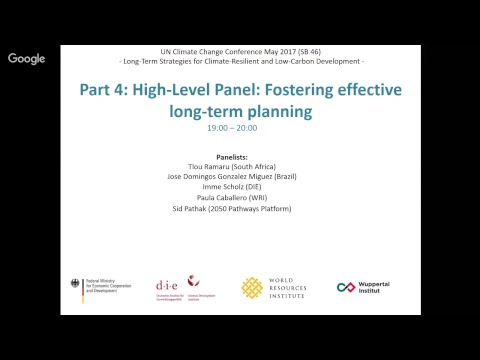 Germany/DIE-Bonn/WRI: Long-term Strategies for climate resilient development