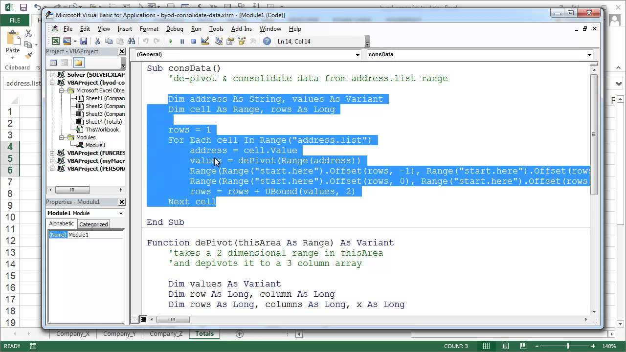 Consolidate Data In Different Shaes