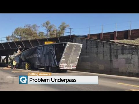 Big Rig Gets Stuck In Highway 70 Overpass, Again