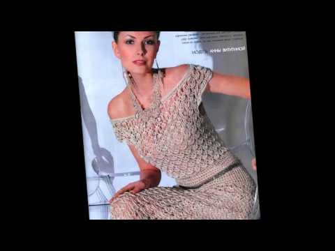 Ажурные красивые вязаные платья