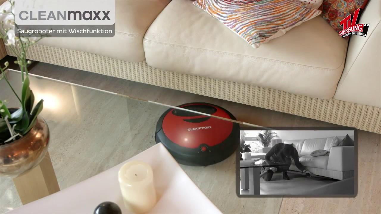 lehner versand ag cleanmaxx saugroboter mit wischfunktion. Black Bedroom Furniture Sets. Home Design Ideas