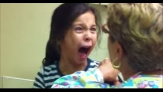 Little Girl Freaks Out Getting Flu Shot