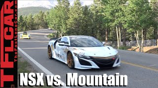 Acura Nsx Triples Down On Dangerous Pikes Peak Hill Climb Race To The Clouds