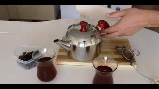 КАК ЗАВАРИВАТЬ турецкий чай, а говорили, что он не вкусный. ЧАЙНИК ДВОЙНОЙ НУЖЕН