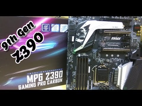 Z390 GAMING PRO CARBON MSI MPG 9th Gen Motherboard Unboxing Tech Land