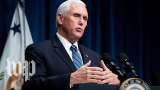 Pence says it is 'encouraging news' that many new coronavirus cases are young Americans