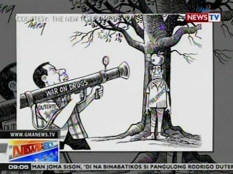 NTG: Duterte at ang kampanya niya kontra-droga, tampok sa editorial cartoon ng The New York Times