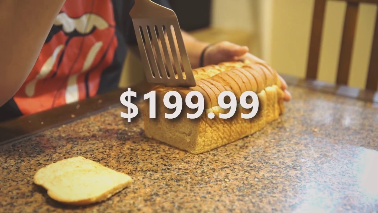 Flat Piece of Metal Designed for Slicing Bread
