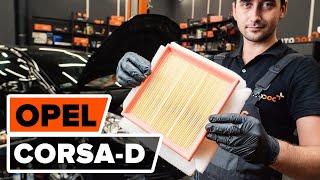 Montaje Filtro de aire motor OPEL CORSA: vídeo manual