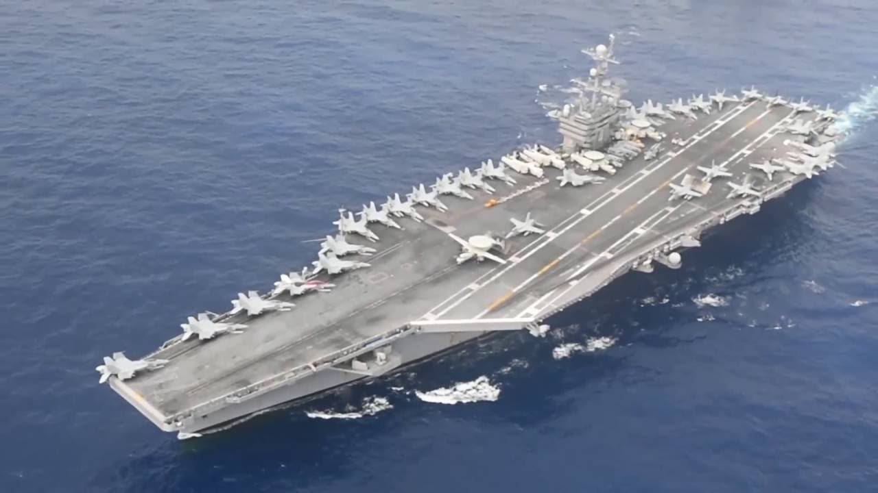 Dual Aircraft Carrier Strike Group Operations - YouTube