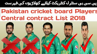 Pakistan cricket board Players Central contract List 2018 | Pakistani players salary 2018