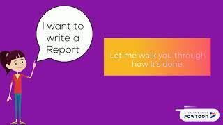 كيفية كتابة التقرير - Ifra K