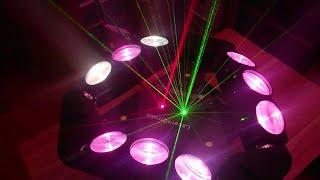 Đèn Sân Khấu Moving 9 Mắt LED Laser Chớp Sấm Sét Trang Trí Phòng Karaoke, Sân Khấu