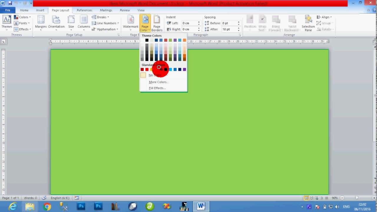 page border colour and water mark how to make a colorful border
