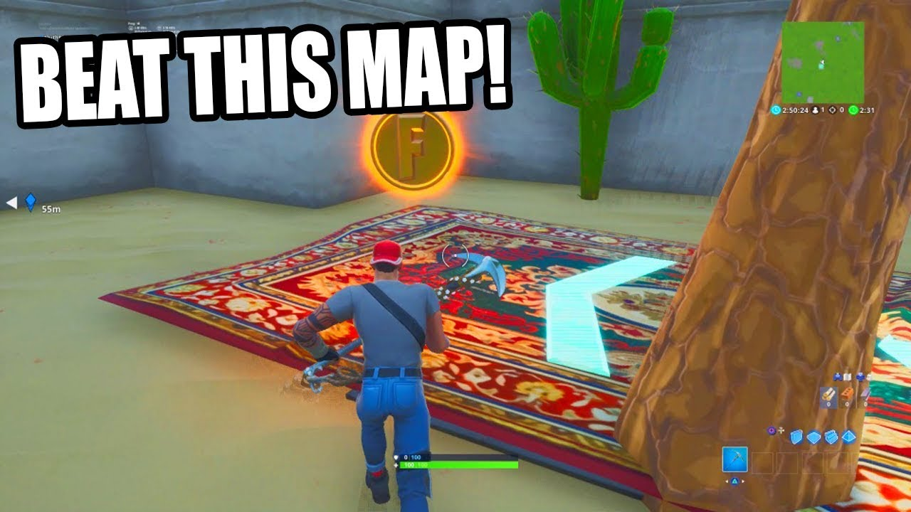 The GOLD RUSH Challenge Map in Fortnite Creative!
